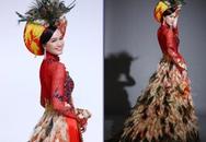 """Mỹ nhân Việt """"quê mùa"""" với váy lông vũ"""