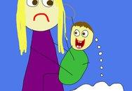 """7 trò bé sơ sinh khiến mẹ """"phát điên"""""""