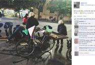 Người Hà Nội nhặt quả dâu giúp người bán hàng