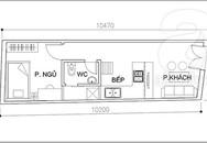 Bài trí nội thất tiện nghi cho nhà 32 m²