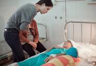 Mai Phương Thúy thăm bé bị máy ép tróc da đầu