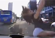 Cô gái bỗng dưng... rơi từ trên trời xuống nắp capô