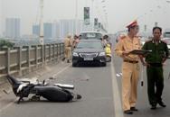 Một phụ nữ tự đâm vào thành cầu Vĩnh Tuy tử vong