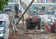 Đổ cần cẩu ở dự án đường sắt trên cao Hà Đông - Cát Linh