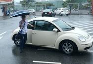 Học sinh khai giảng trong cơn mưa tầm tã