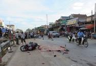 Đôi nam nữ chết thảm sau khi bị xe container cán ngang người
