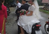 Bất ngờ với cô dâu đi dép lê khi vu quy