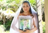 Cảm động bộ ảnh cưới mình cô dâu để tưởng nhớ chú rể qua đời