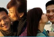 Những nụ hôn lãng mạn của các cặp đôi sao Việt