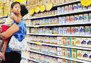 Giá sữa cho trẻ em giảm nhẹ