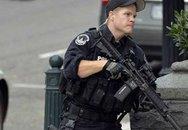 Hình ảnh súng nổ bên ngoài trụ sở Quốc hội Mỹ