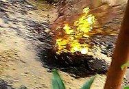 """Vụ """"mặt đường bốc lửa"""" ở TPHCM: Nhiều ngôi mộ ở gần cũng bốc khói"""