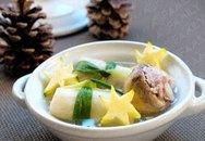 Mát ngọt canh nấm nấu bắp cải cuộn thịt