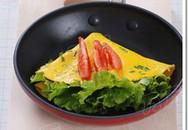 Lạ miệng trứng rán cuộn rau diếp