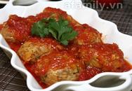 Cơm ngon với món thịt viên xốt cà chua