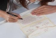Kiếm tiền bằng nghề viết thiệp cưới