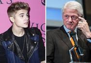 Justin Bieber gửi lời xin lỗi Bill Clinton vì phun nước vào bức ảnh của ông