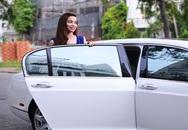 Hồ Ngọc Hà lái xe siêu sang đi quay quảng cáo
