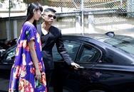 Top Model Lê Thúy được trai đẹp đưa đón bằng ô tô sang