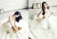 Vẻ lộng lẫy những hotgirl Việt trong váy cưới