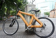 Kỳ lạ chiếc xe đạp làm bằng mây đầu tiên tại Việt Nam