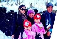 Vợ chồng MC Quyền Linh đưa con lên Sapa ngắm tuyết