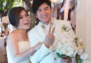 Clip: Đan Trường và Thủy Tiên hạnh phúc rạng ngời trong lễ cưới