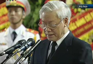Tổng Bí thư Nguyễn Phú Trọng đọc Điếu văn tiễn đưa Đại tướng