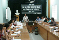 Tập huấn cho lãnh đạo các Trung tâm về biểu mẫu báo cáo mới