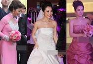 Cô dâu Jennifer Phạm bị chê vì... váy