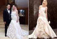 Jennifer làm hỏng dáng váy của Vera Wang