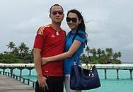 Ngọc Thạch khoe ảnh hạnh phúc cùng chồng trên biển