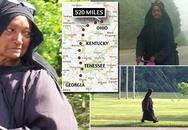 Người phụ nữ áo đen bí ẩn đi bộ vòng quanh nước Mỹ