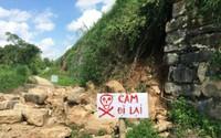 Một góc tường Thành Nhà Hồ - Di sản văn hóa thế giới bị sạt lở bởi bão số 10