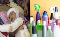 Từ vụ bé 2 tuổi bỏng toàn thân vì chất thông bồn cầu: Cẩn trọng mất tiền mua rồi lại