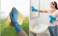 """Mẹo lau cửa kính và gương """"một lần sạch ngay"""" mà không cần nước lau kính"""