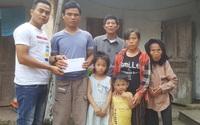 Bạn đọc giúp đỡ con của gia đình chồng mù, vợ tật nguyền đến trường
