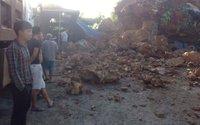 Hải Phòng: Một nhà dân bị núi sạt lở chôn vùi