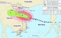 Bão số 10: Gió giật cấp 15 vào đất liền từ Nghệ An đến Quảng Trị