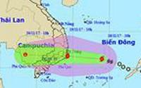 Sáng mai bão số 14 đổ bộ vào Khánh Hòa - Bình Thuận