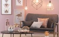 Không gian sống đầy lôi cuốn nhờ sự kết hợp của cặp đôi màu sắc đồng và hồng