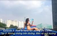 Cô gái mặc bikini nằm ngửa đọc sách dưới kênh Nhiêu Lộc để quay clip 'sexy sinh tồn': Khó hiểu và khó tả!