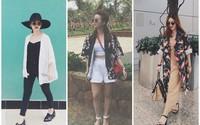 Nghệ thuật phối đồ (3): Nàng công sở sành điệu xử lý áo kimono - Xu hướng hot nhất hè này