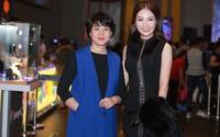 MC Diễm Quỳnh cùng Á hậu Thụy Vân cùng chúc mừng phim của Mai Thu Huyền