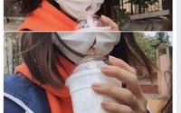 Nữ sinh bất ngờ nổi tiếng chỉ bởi cách uống trà sữa 'có một không hai'