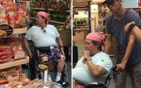 Siêu sao võ thuật Hồng Kim Bảo phải ngồi xe lăn vì quá béo