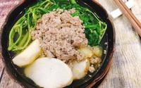 Bữa cơm dậy mùi nhờ canh cua nấu khoai sọ, rau rút