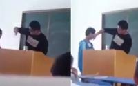 Thầy giáo tát 20 học sinh trong ngày khai giảng