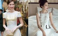 Sắp lên xe hoa, thử ngắm Hoa hậu Thu Thảo đẹp hoàn hảo trong từng trang phục cưới