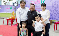 Hiếu Hiền cùng vợ và hai con dự lễ khởi quay phim mới